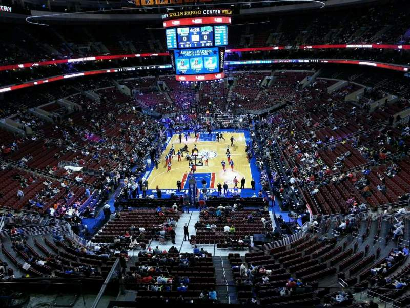 Seating view for Wells Fargo Center Section 207a Row 3 Seat 9