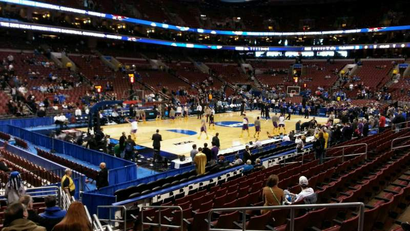 Seating view for Wells Fargo Center Section 110 Row 13 Seat 12
