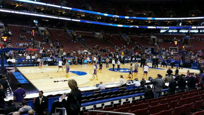 Seating view for Wells Fargo Center Section 111 Row 6 Seat 14