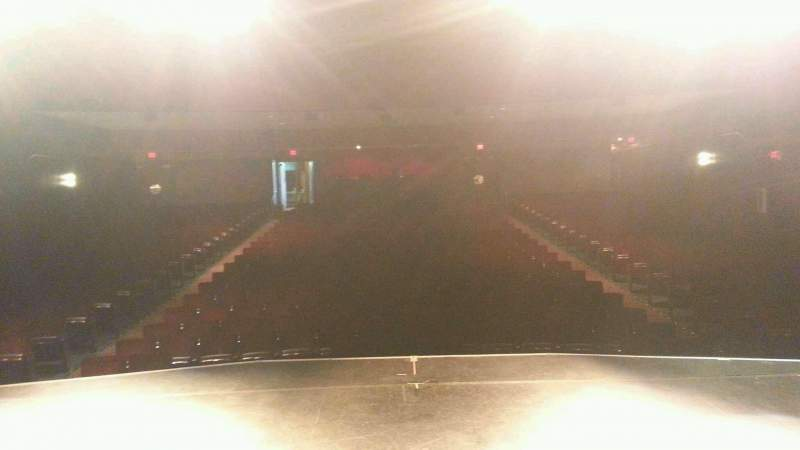 Seating view for Landis Theater Section center stage