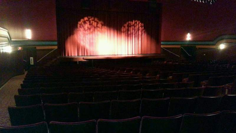 Seating view for Landis Theater Section orchestra left Row x Seat 15