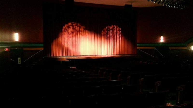 Seating view for Landis Theater Section orchestra left Row v Seat 11