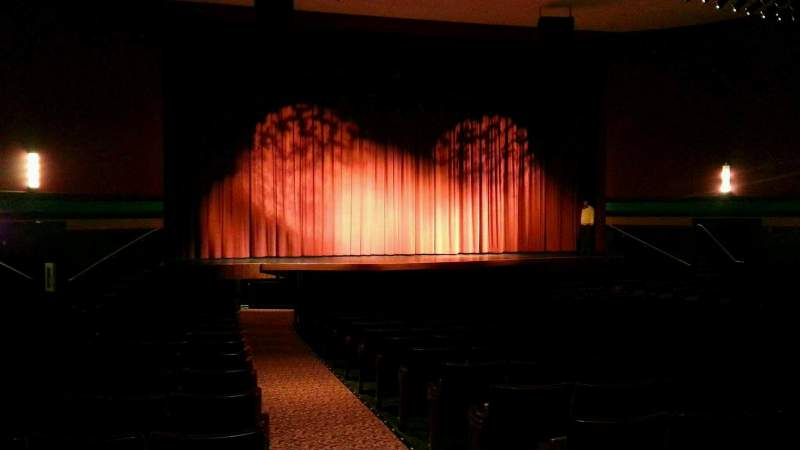Seating view for Landis Theater Section orchestra left Row t Seat 1