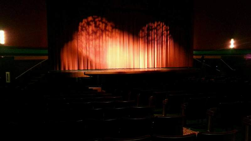 Seating view for Landis Theater Section orchestra left Row r Seat 9