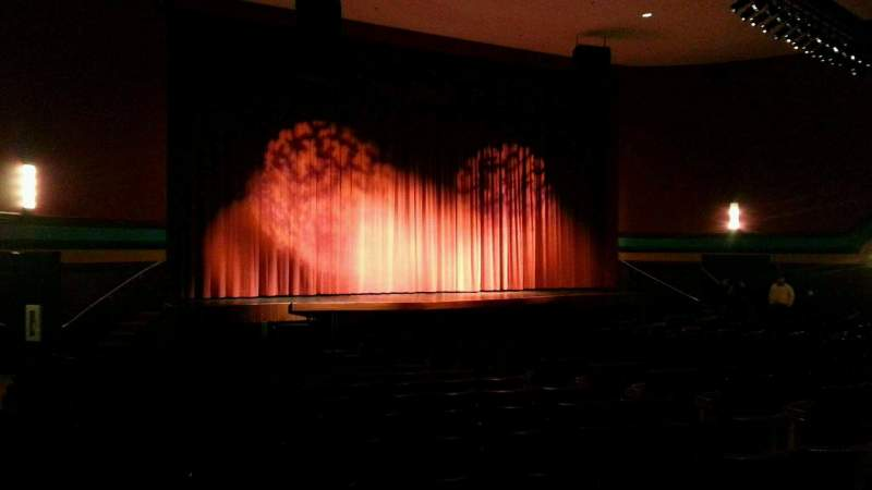 Seating view for Landis Theater Section orchestra left Row s Seat 17