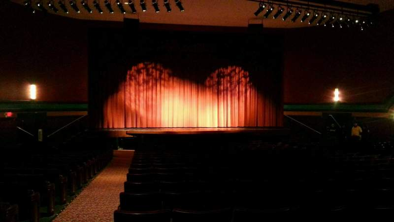 Seating view for Landis Theater Section orchestra center Row w Seat 113