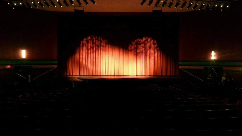 Seating view for Landis Theater Section orchestra center Row w Seat 107