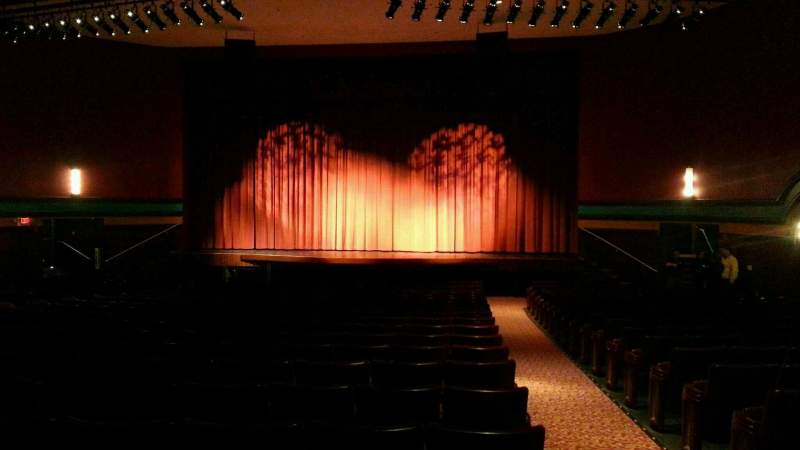 Seating view for Landis Theater Section orchestra center Row w Seat 101