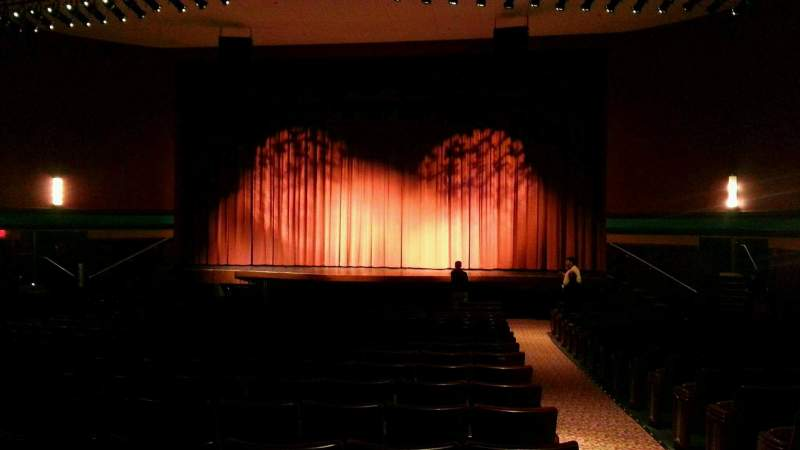 Seating view for Landis Theater Section orchestra center Row v Seat 101