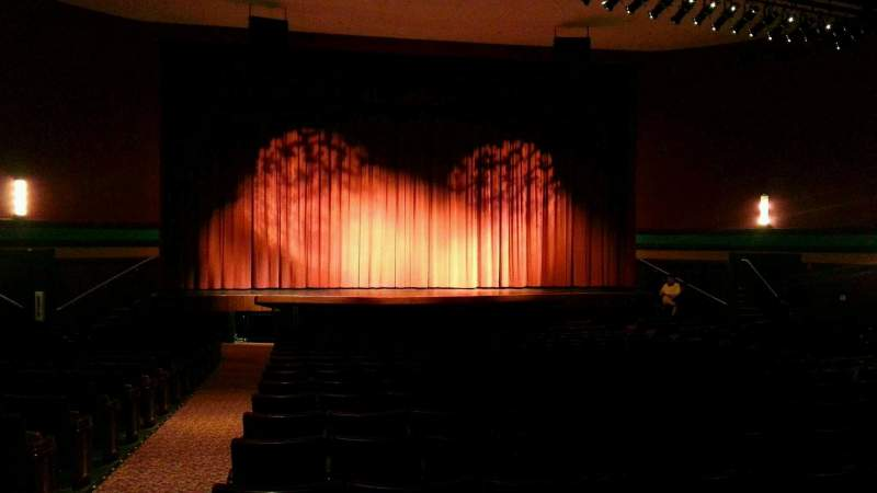 Seating view for Landis Theater Section orchestra center Row v Seat 113