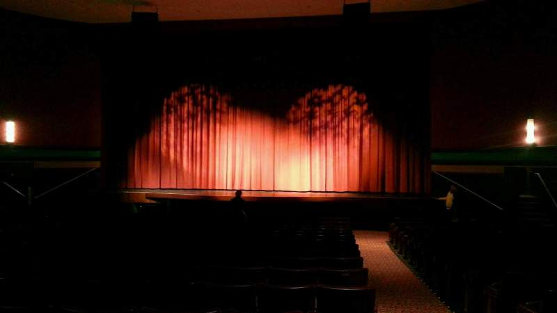 Seating view for Landis Theater Section orchestra center Row s Seat 101