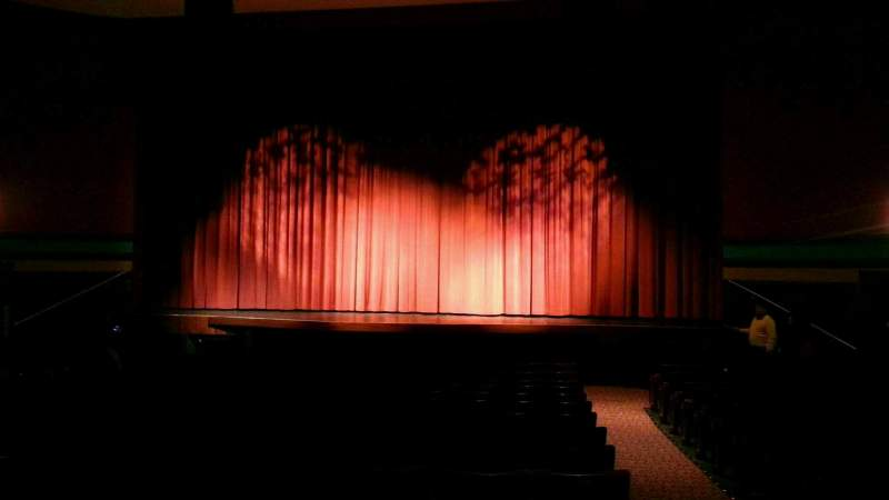 Seating view for Landis Theater Section orchestra center Row q Seat 107