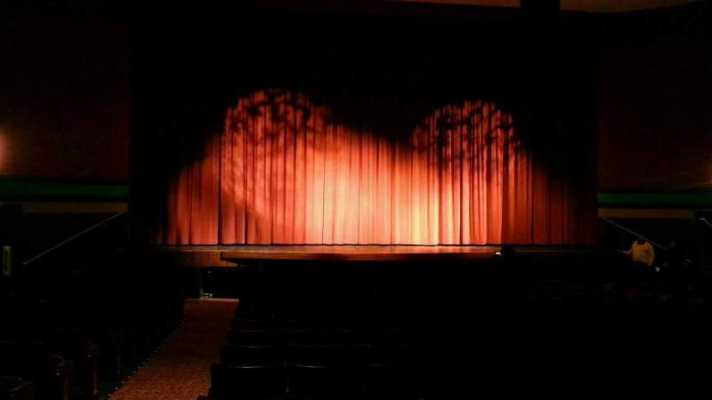Seating view for Landis Theater Section orchestra center Row q Seat 113