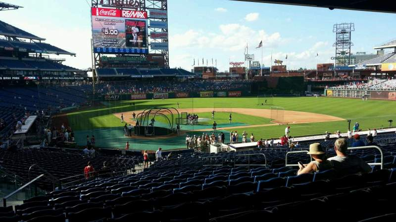 Seating view for Citizens Bank Park Section 121 Row 34 Seat 9