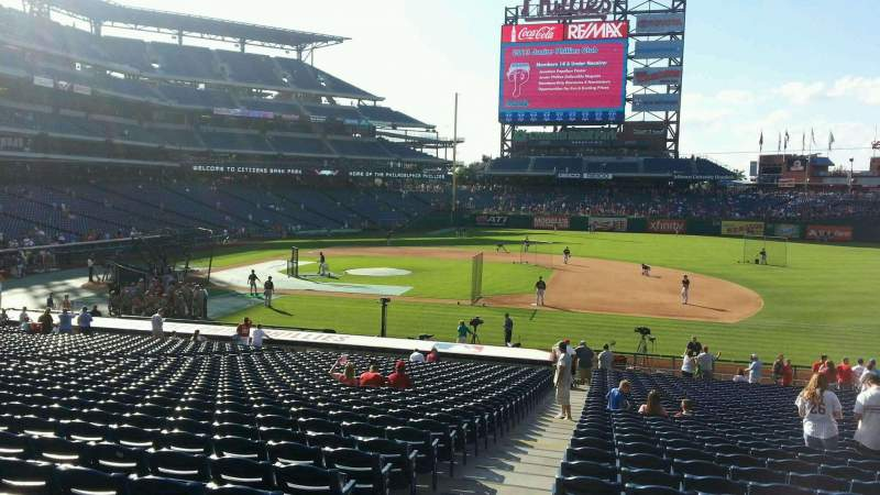 Seating view for Citizens Bank Park Section 115 Row 31 Seat 18