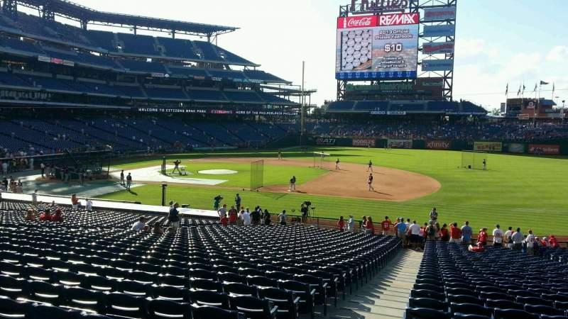 Seating view for Citizens Bank Park Section 114 Row 35 Seat 19
