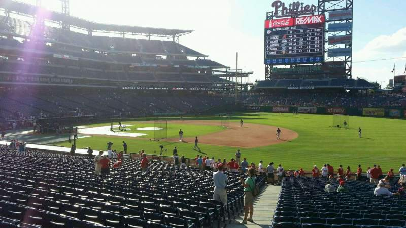 Seating view for Citizens Bank Park Section 113 Row 34 Seat 21