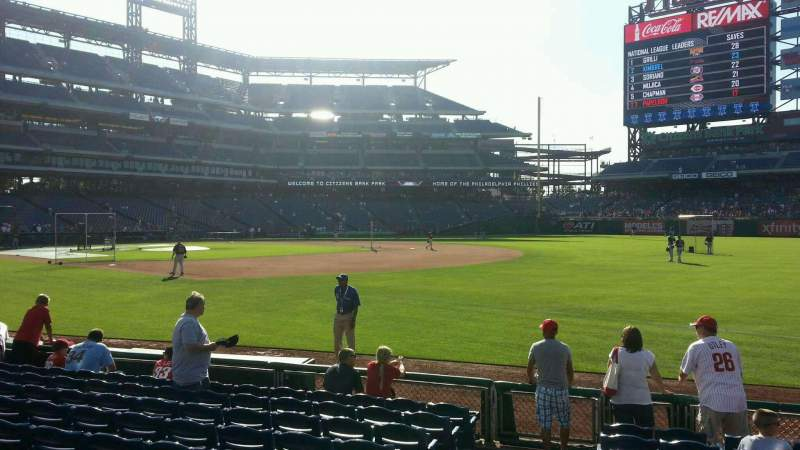 Seating view for Citizens Bank Park Section 111 Row 10 Seat 12