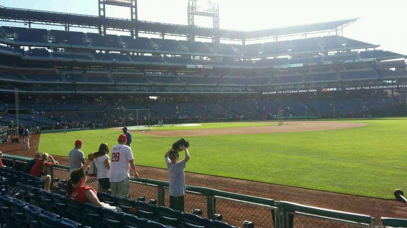 Seating view for Citizens Bank Park Section 110 Row 6 Seat 9