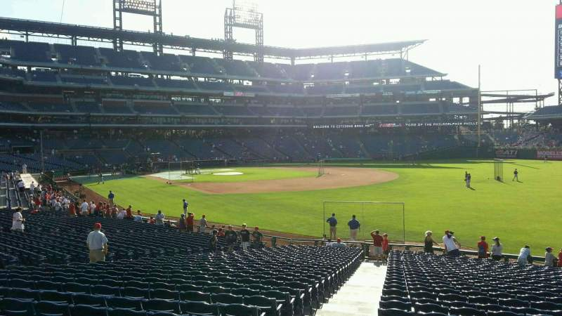 Seating view for Citizens Bank Park Section 109 Row 30 Seat 18