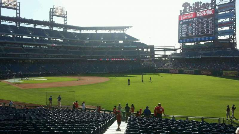 Seating view for Citizens Bank Park Section 108 Row 34 Seat 18