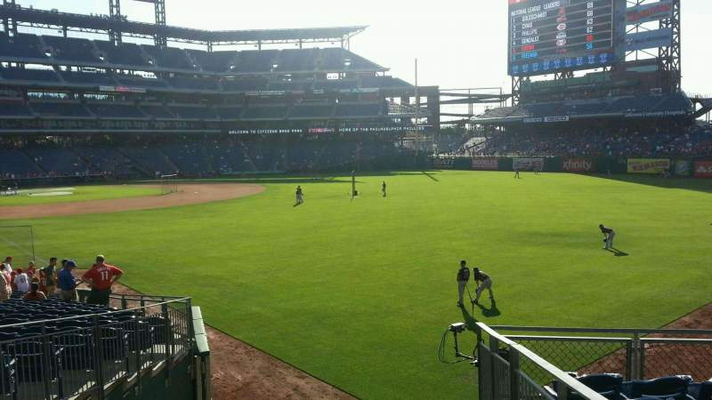 Seating view for Citizens Bank Park Section 107 Row 10 Seat 20