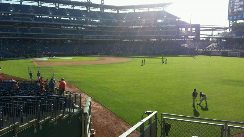 Seating view for Citizens Bank Park Section 107 Row 9 Seat 16