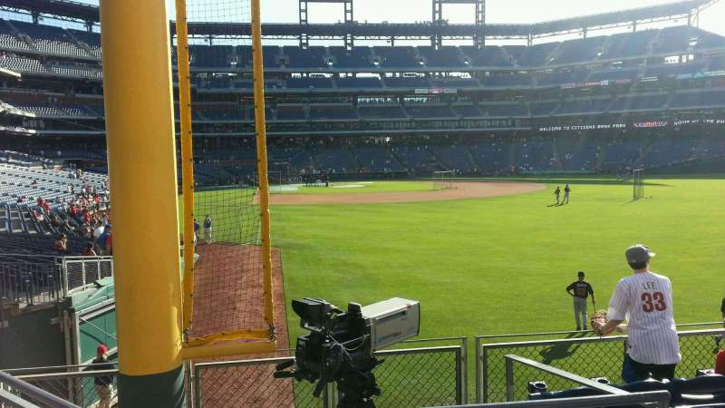 Seating view for Citizens Bank Park Section 106 Row 6 Seat 22