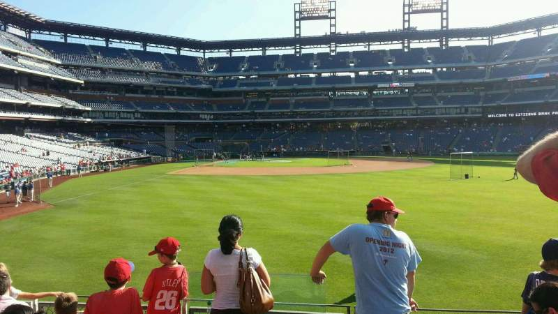 Seating view for Citizens Bank Park Section 104 Row 5 Seat 22