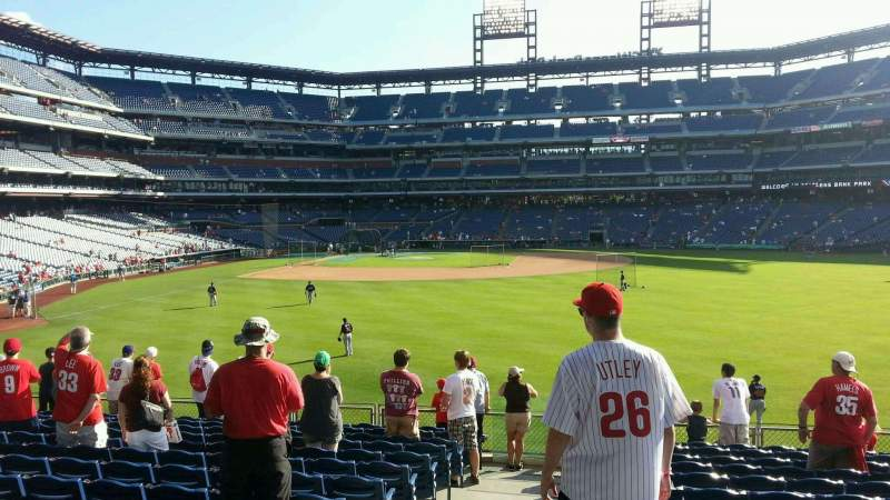 Seating view for Citizens Bank Park Section 103 Row 14 Seat 22