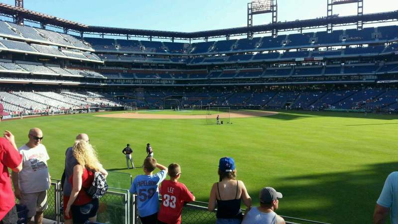 Seating view for Citizens Bank Park Section 101 Row 5 Seat 10