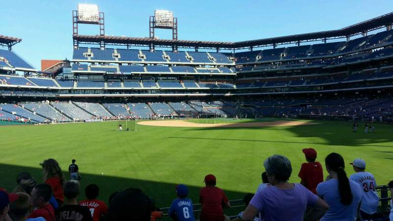 Seating view for Citizens Bank Park Section 145 Row 6 Seat 22