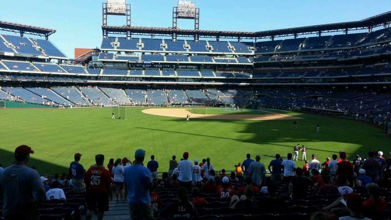 Seating view for Citizens Bank Park Section 144 Row 20 Seat 20