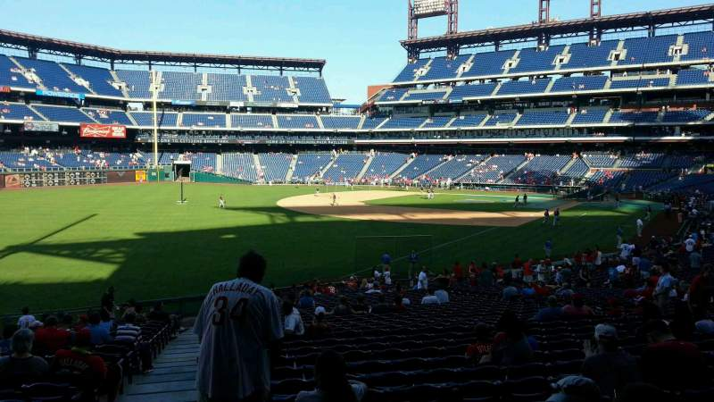 Seating view for Citizens Bank Park Section 138 Row 35 Seat 18