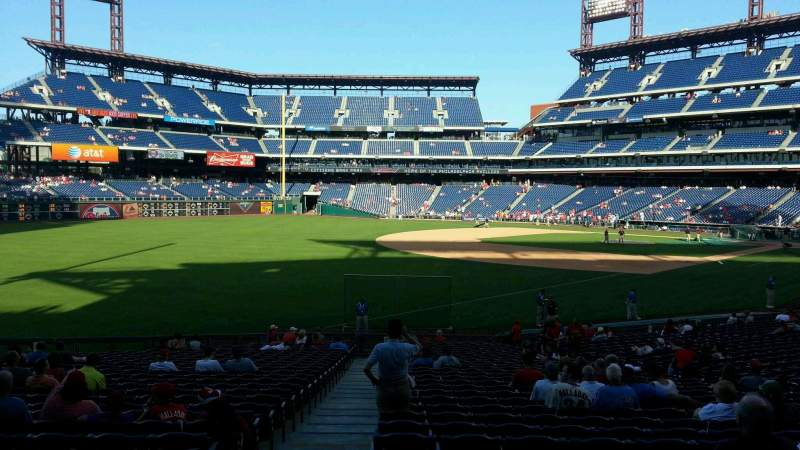 Seating view for Citizens Bank Park Section 137 Row 30 Seat 18