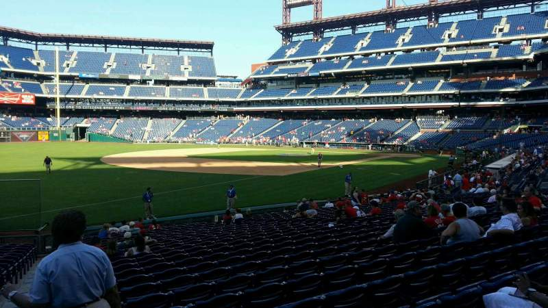Seating view for Citizens Bank Park Section 136 Row 23 Seat 17