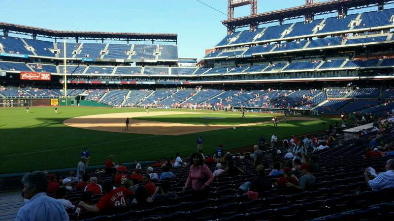 Seating view for Citizens Bank Park Section 135 Row 24 Seat 18