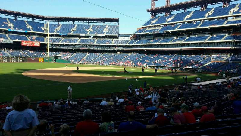 Seating view for Citizens Bank Park Section 134 Row 23 Seat 17