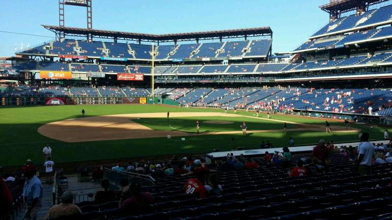Seating view for Citizens Bank Park Section 132 Row 27 Seat 18