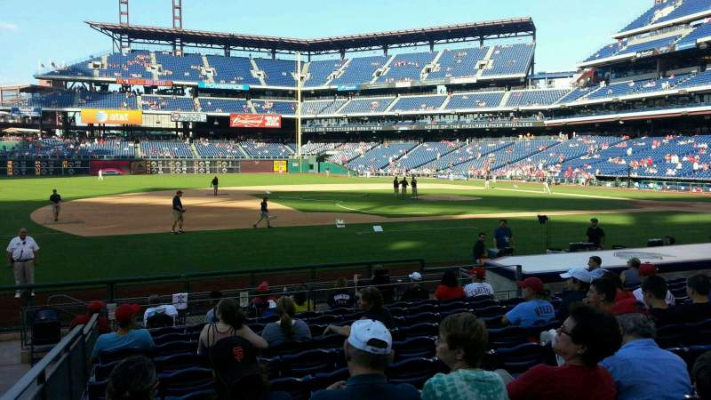 Seating view for Citizens Bank Park Section 132 Row 11 Seat 12