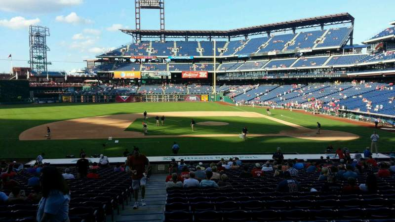 Seating view for Citizens Bank Park Section 130 Row 28 Seat 18