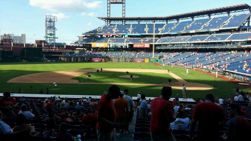 Seating view for Citizens Bank Park Section 129 Row 29 Seat 8