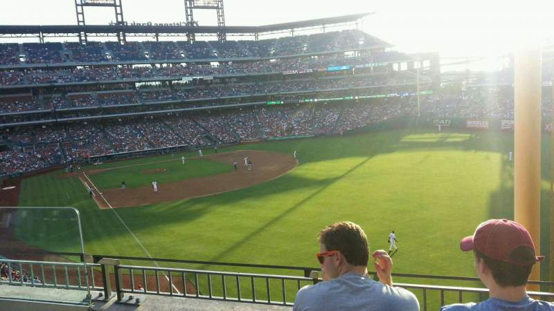 Seating view for Citizens Bank Park Section 206 Row 3 Seat 16