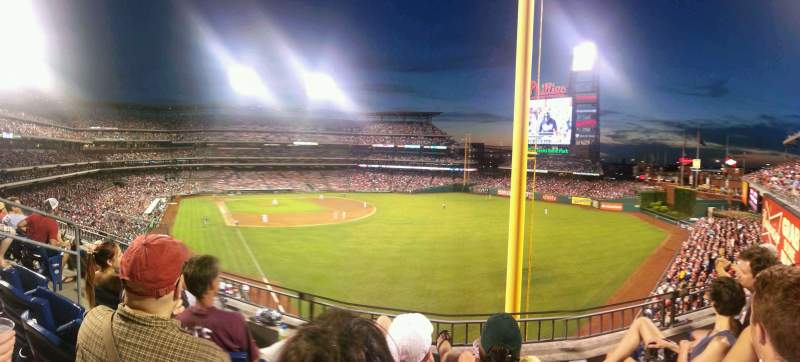 Seating view for Citizens Bank Park Section 206 Row 3 Seat 15