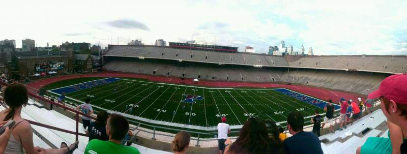 Seating view for Franklin Field Section usg Row 8 Seat 7