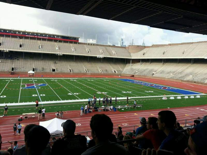 Seating view for Franklin Field Section sf Row 22 Seat 10