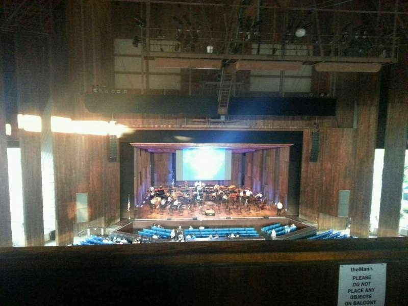 Seating view for The Mann Section balcony box 16 Seat 4