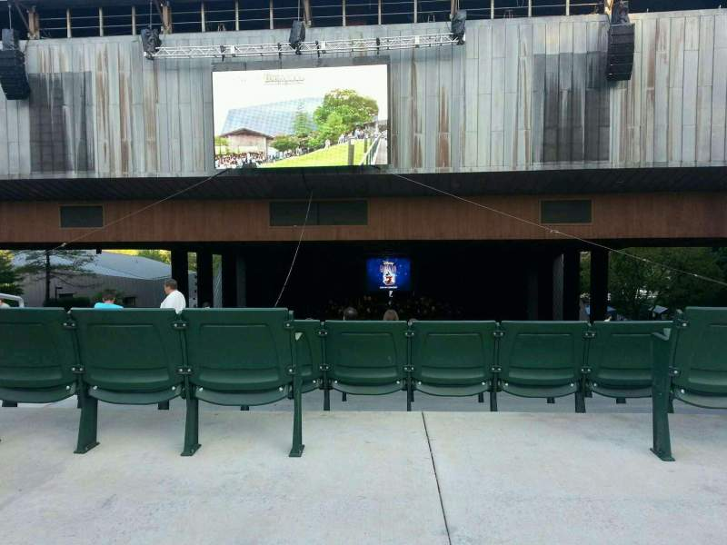 Seating view for The Mann Section lawn