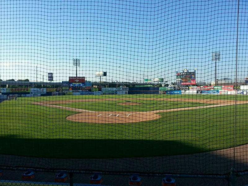 Seating view for Frawley Stadium Section 14 Row 4 Seat 3