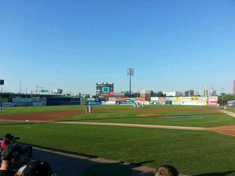 Seating view for Frawley Stadium Section 19 Row 3 Seat 1